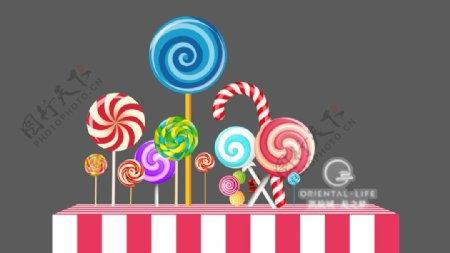 糖果美陈图片