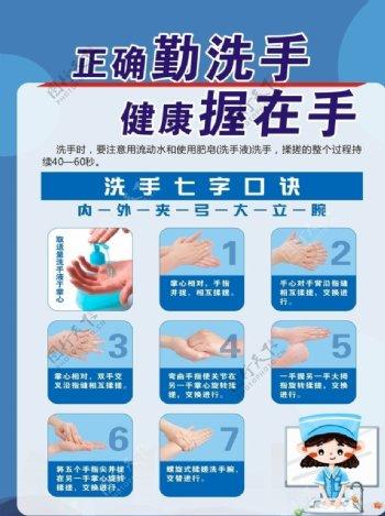 洗手七步法传染病预防传图片
