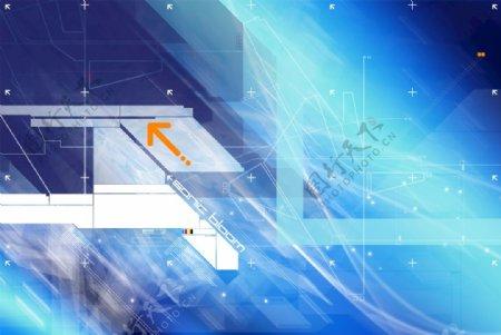 背景元素科技psd图片