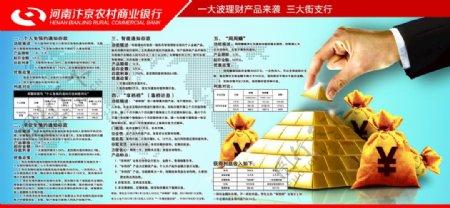 河南汴京农业商业银行展板图片