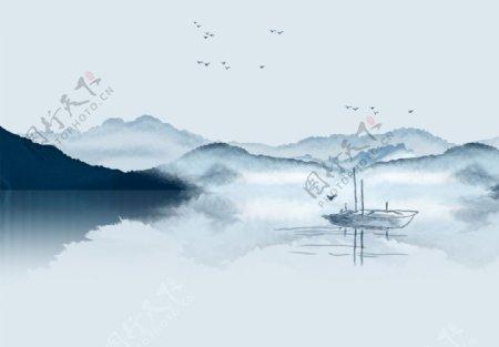 水墨山水中式图片