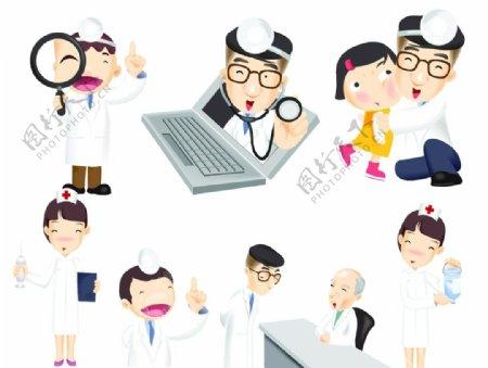 卡通医生护士素材图片