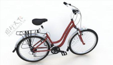 C4D模型自行车图片