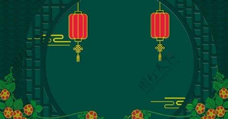 绿色中国风背景图片