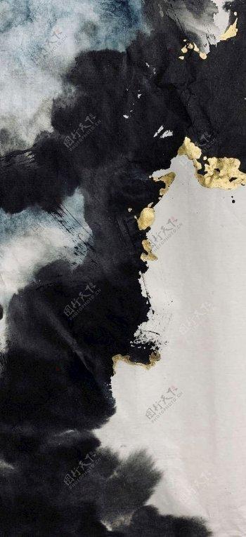 中式水墨画底图片