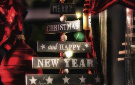 圣诞祝福招牌图片