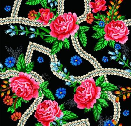 大牌植物红花方巾图片