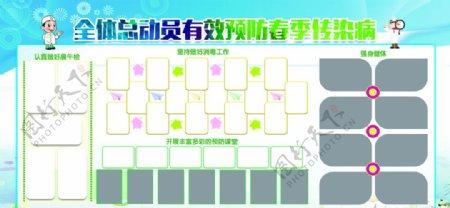 预防传染病校园展板图片