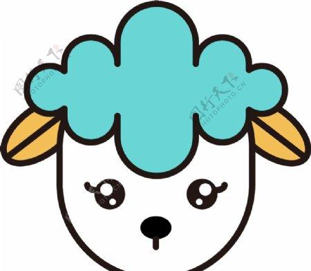 矢量简笔画绵羊图片