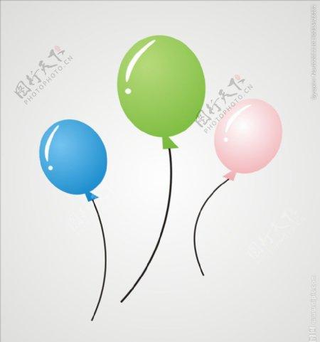 矢量气球图片