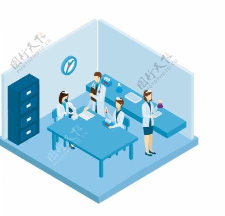 手绘医院病房图片