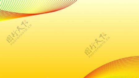 黄色科技名片黄色简洁名片CDR图片