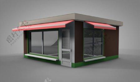 C4D模型房子店铺图片