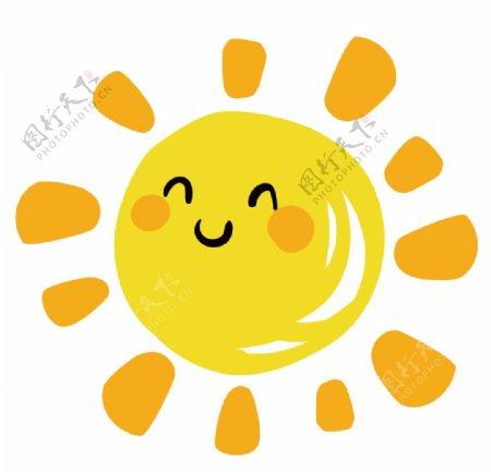 矢量图微笑的太阳图片