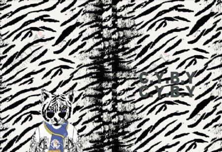 大猫底纹定位图片