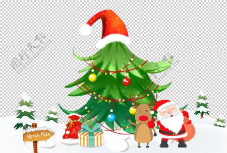圣诞老人和他的礼物图片