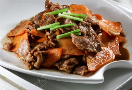 胡萝卜炒羊肉图片