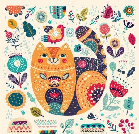 动物卡通植物图片