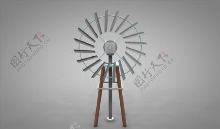C4D模型风车扬风器风扇图片