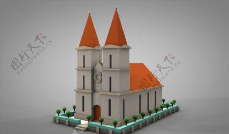 C4D模型城堡图片