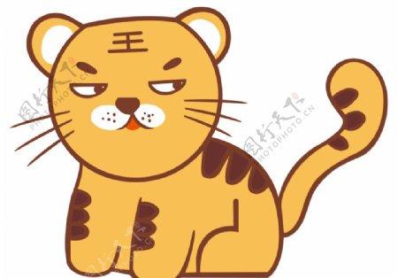 可爱小老虎图片
