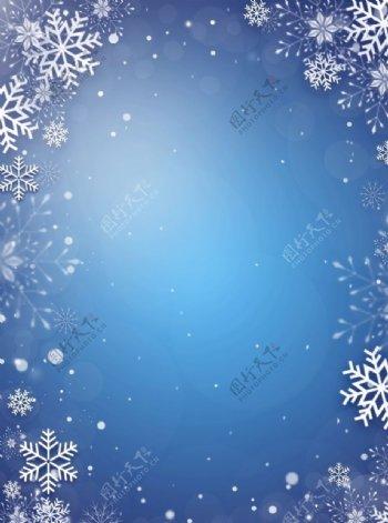 冬季雪花背景素材图片