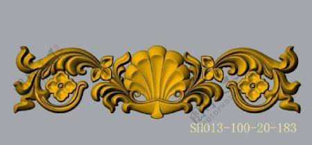建筑装饰浮雕花SH013dwg图片