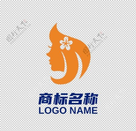 女人女性LOGO女人头发图片