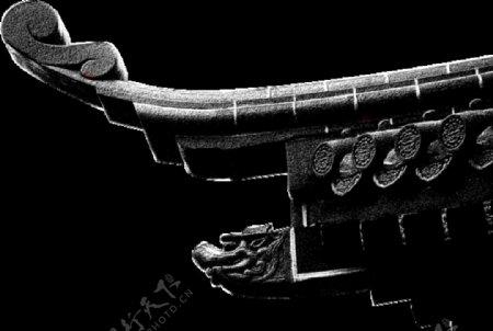 中国传统元素瓦檐透明背景图片