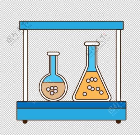 平底烧瓶锥形瓶化学器材PNG图片