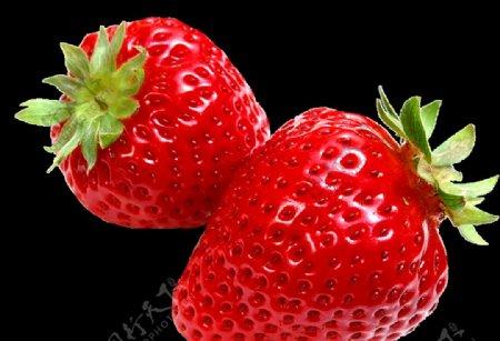 透明免抠图草莓图片