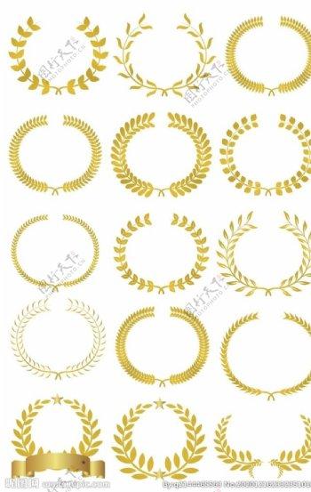 橄榄枝叶子花环皇冠装饰图片