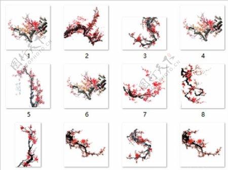 红梅素材112图片
