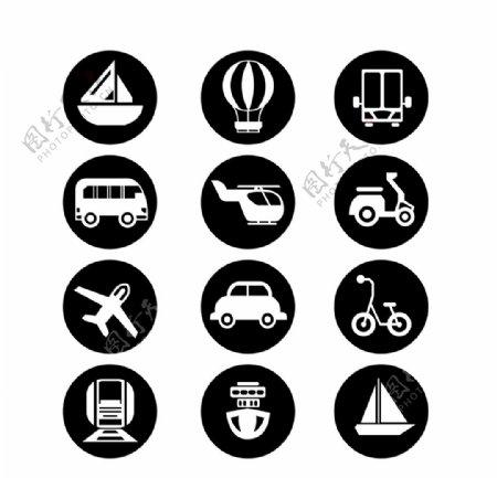 交通工具矢量图标图片