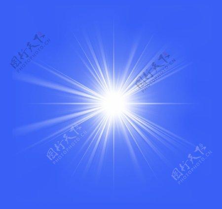 太阳光芒图片