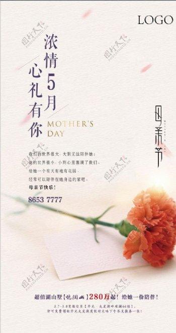 房地产母亲节节气海报图片