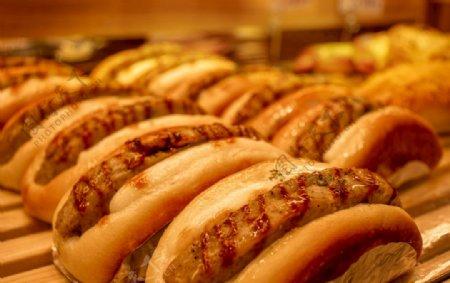 猪排包面包图片