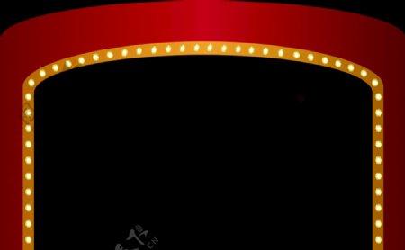 老式拱门造型灯带圈灯图片