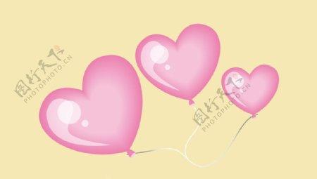 爱心气球图片