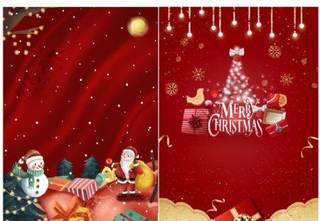 圣诞节红色海报图片