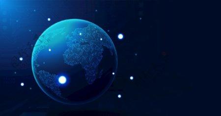 全球化地球太空EPS模板图片