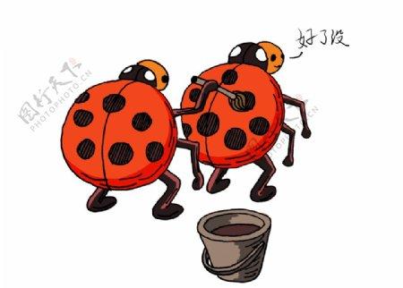 可爱七星瓢虫插画图片