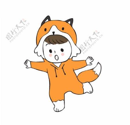 卡通手绘狐狸图片