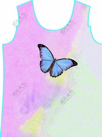 蝴蝶扎染图片