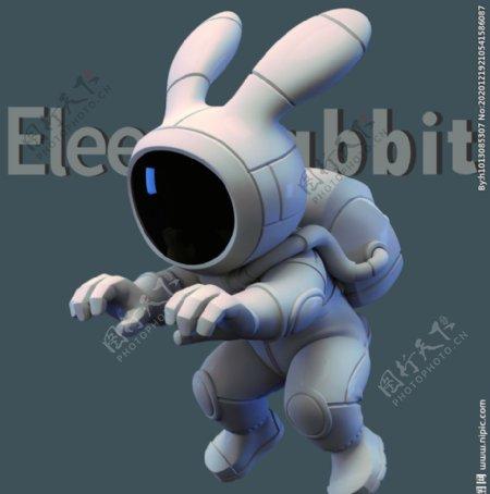 太空兔T恤裁片图片