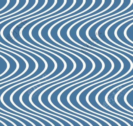 蓝色波浪纹图片