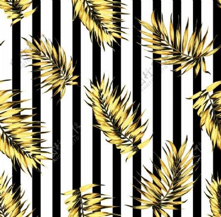 热带叶子竖条纹图片