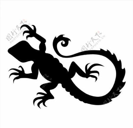 四脚蛇图案图片