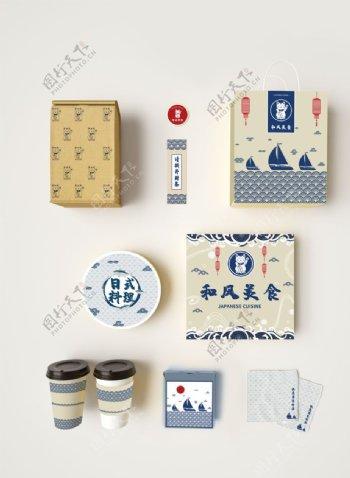 日本料理VI套装样机图片