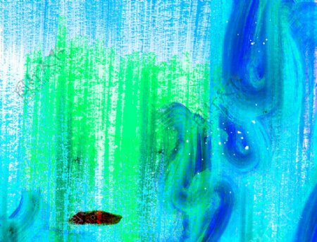水彩油画笔触背景图片